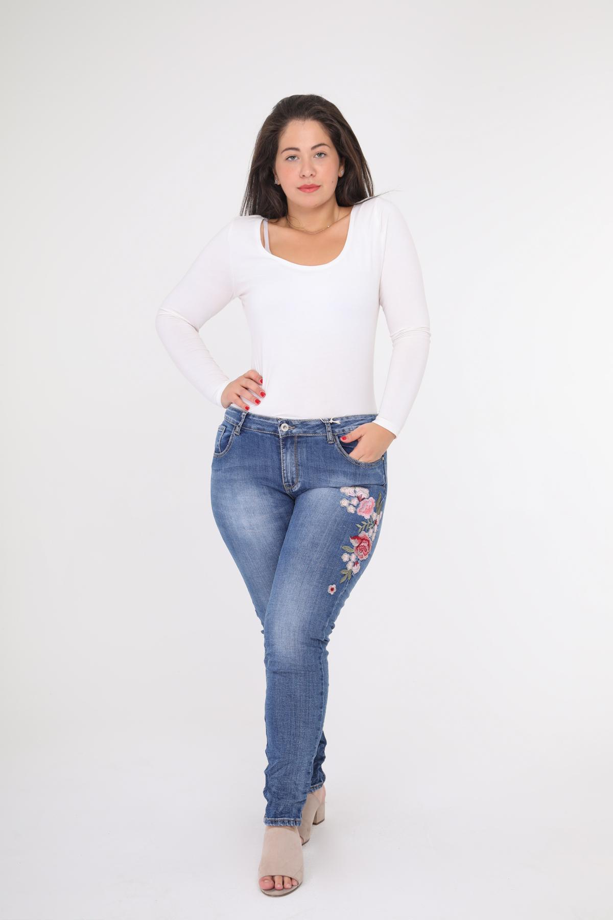 Jeans Femme Bleu Novo Création K933 #c eFashion Paris