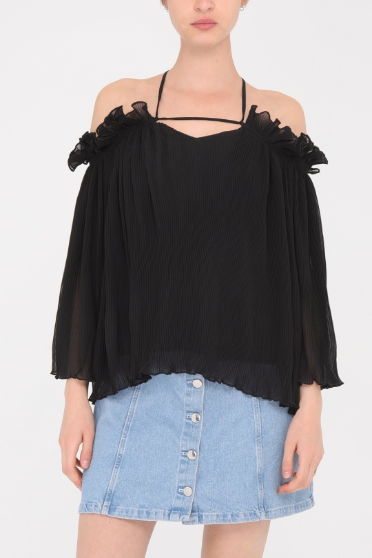 Blouses Femme Noir Retro & Icone H002 eFashion Paris