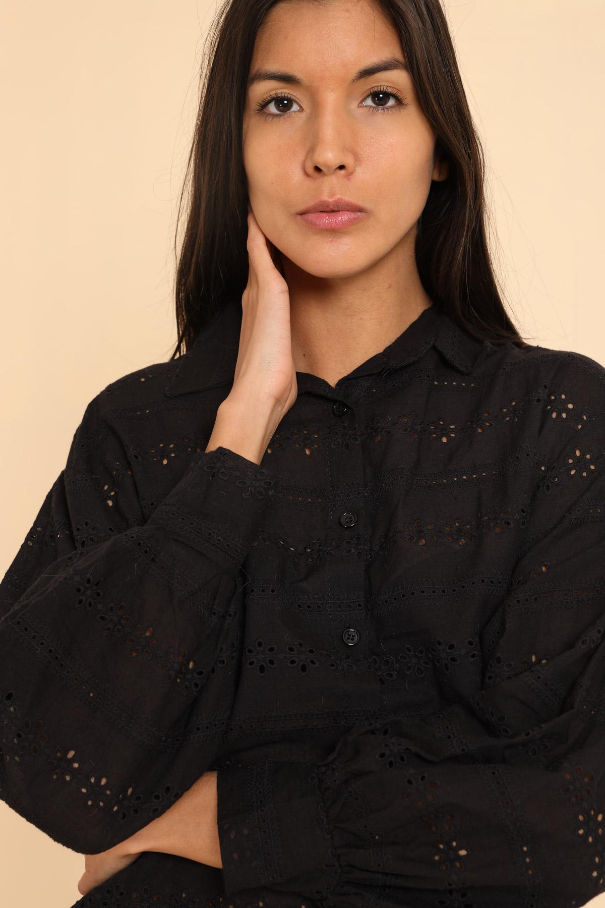 Chemises Femme Noir Kaycee 8301 #c eFashion Paris