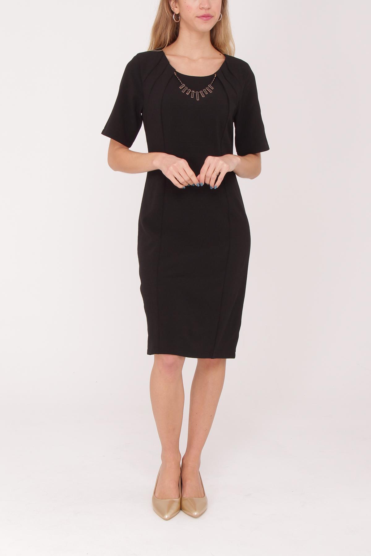 Robes mi-longues Femme Noir Ashwi ASS-1734 #c eFashion Paris