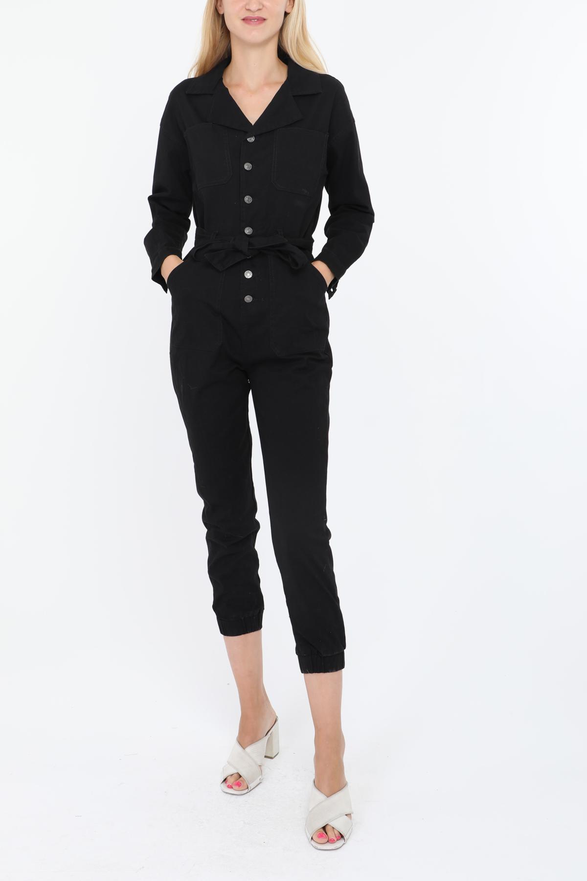 Combinaisons Femme Noir SOFTY BY EVER BOOM  K9265 #c eFashion Paris