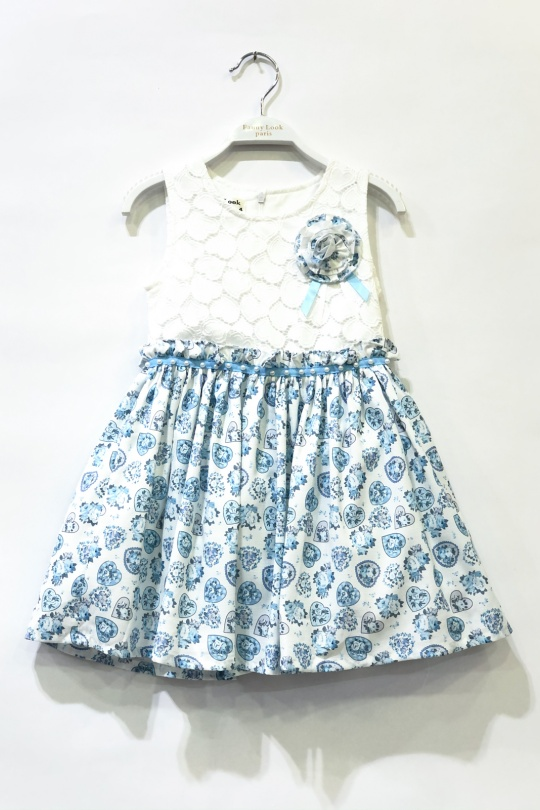 Robes Enfant Bleu clair FANNY LOOK 7220 eFashion Paris