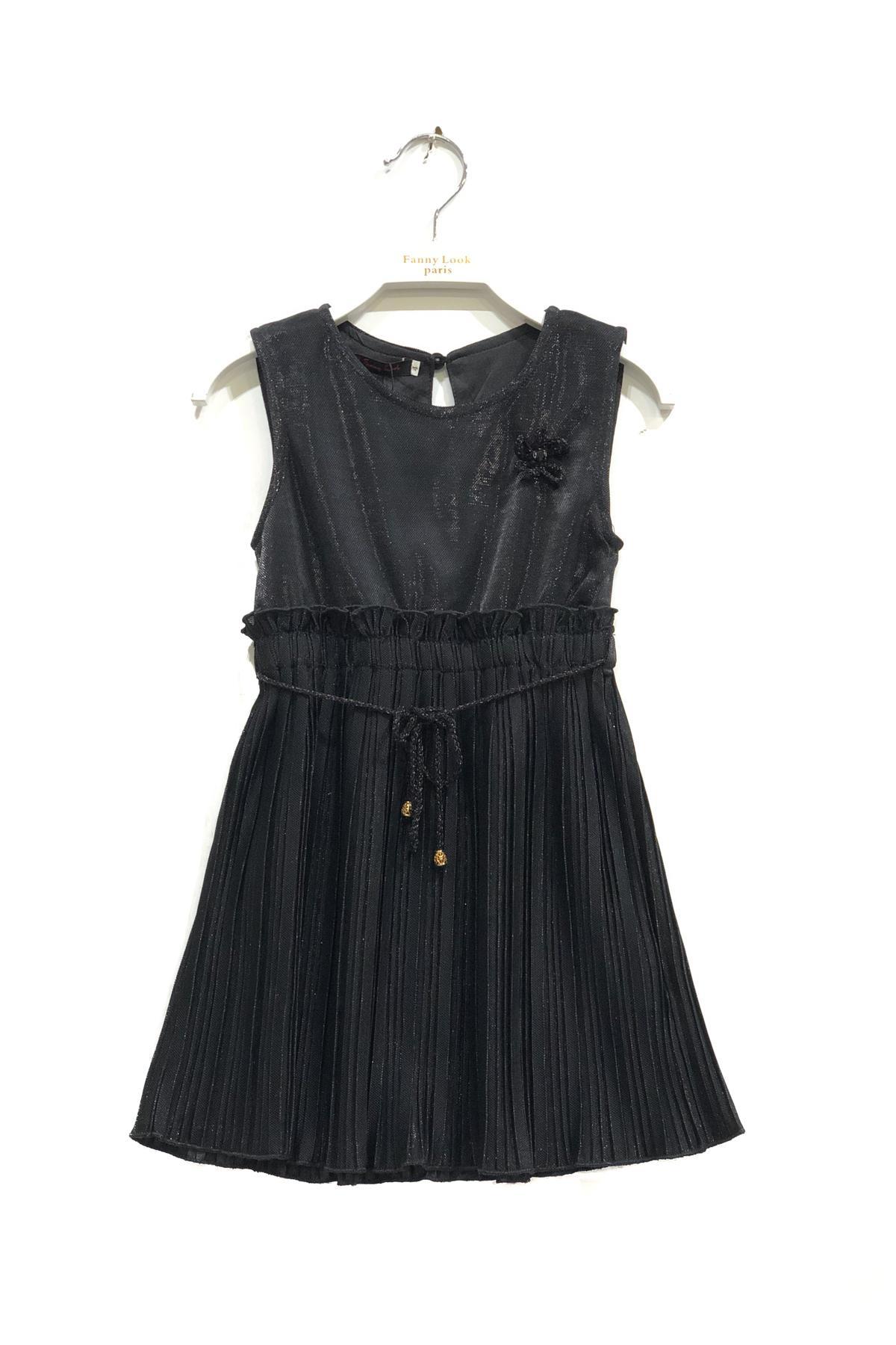 Robes Enfant Noir FANNY LOOK 7405 #c eFashion Paris