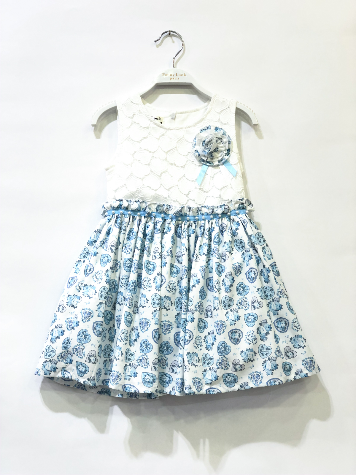 Robes Enfant Bleu clair FANNY LOOK 7220 #c eFashion Paris