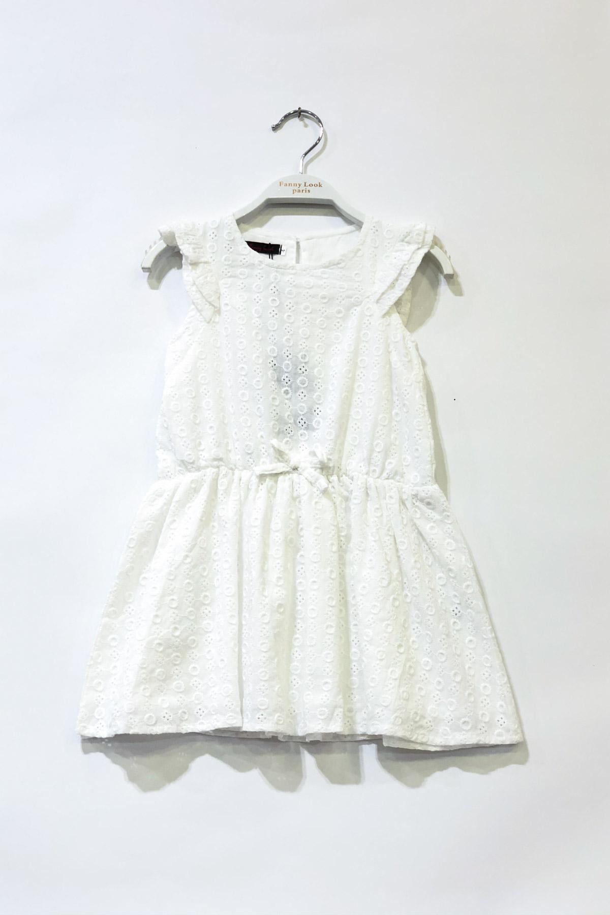 Robes Enfant Blanc FANNY LOOK 7428 #c eFashion Paris
