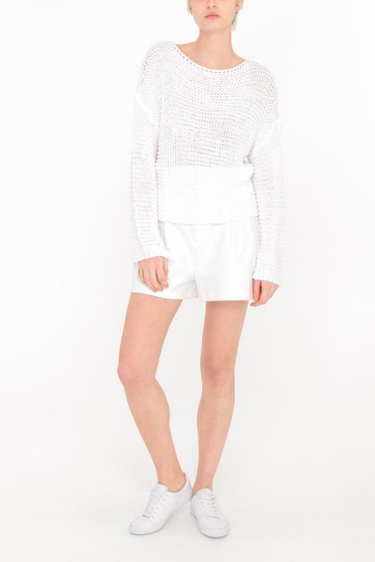 Pulls Femme Blanc C.M.P.55 (sarl GDCY) CL117 eFashion Paris