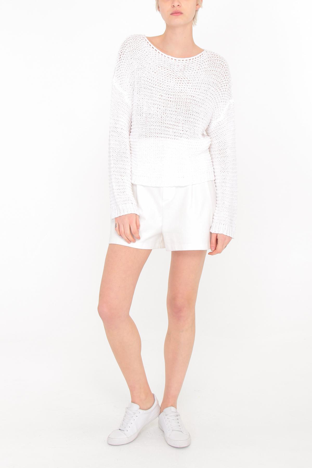 Pulls Femme Blanc C.M.P.55 (sarl GDCY) CL117 #c eFashion Paris