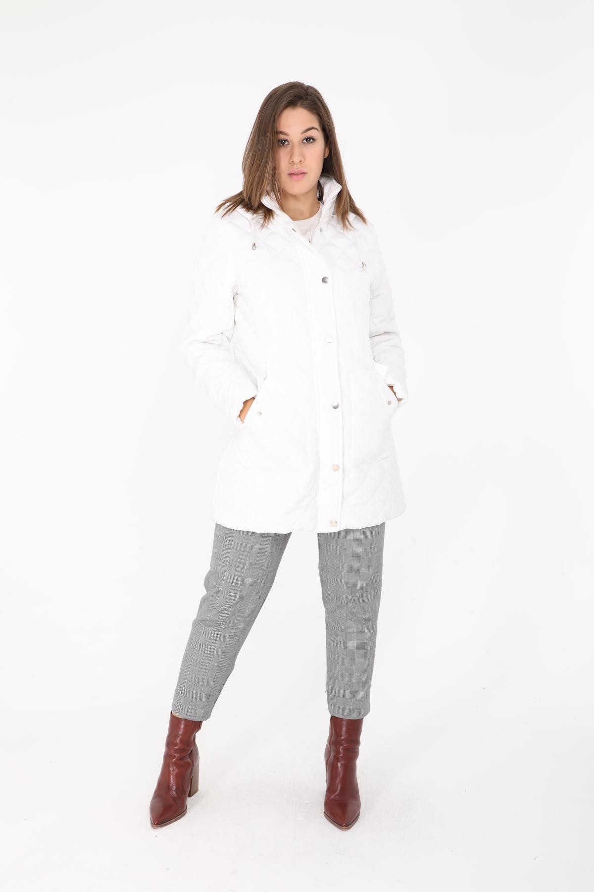 Manteaux Femme Blanc Cissy & Co F78 #c eFashion Paris