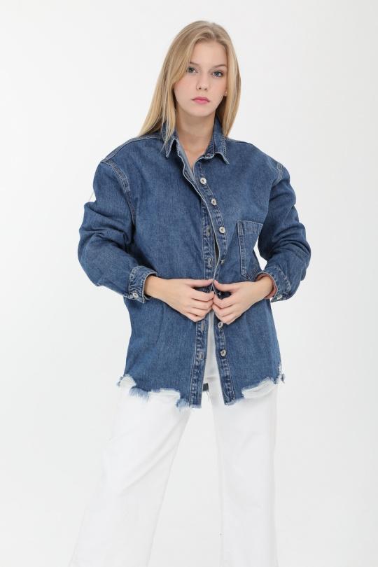 Chemises Femme Bleu Laulia 1J378 eFashion Paris