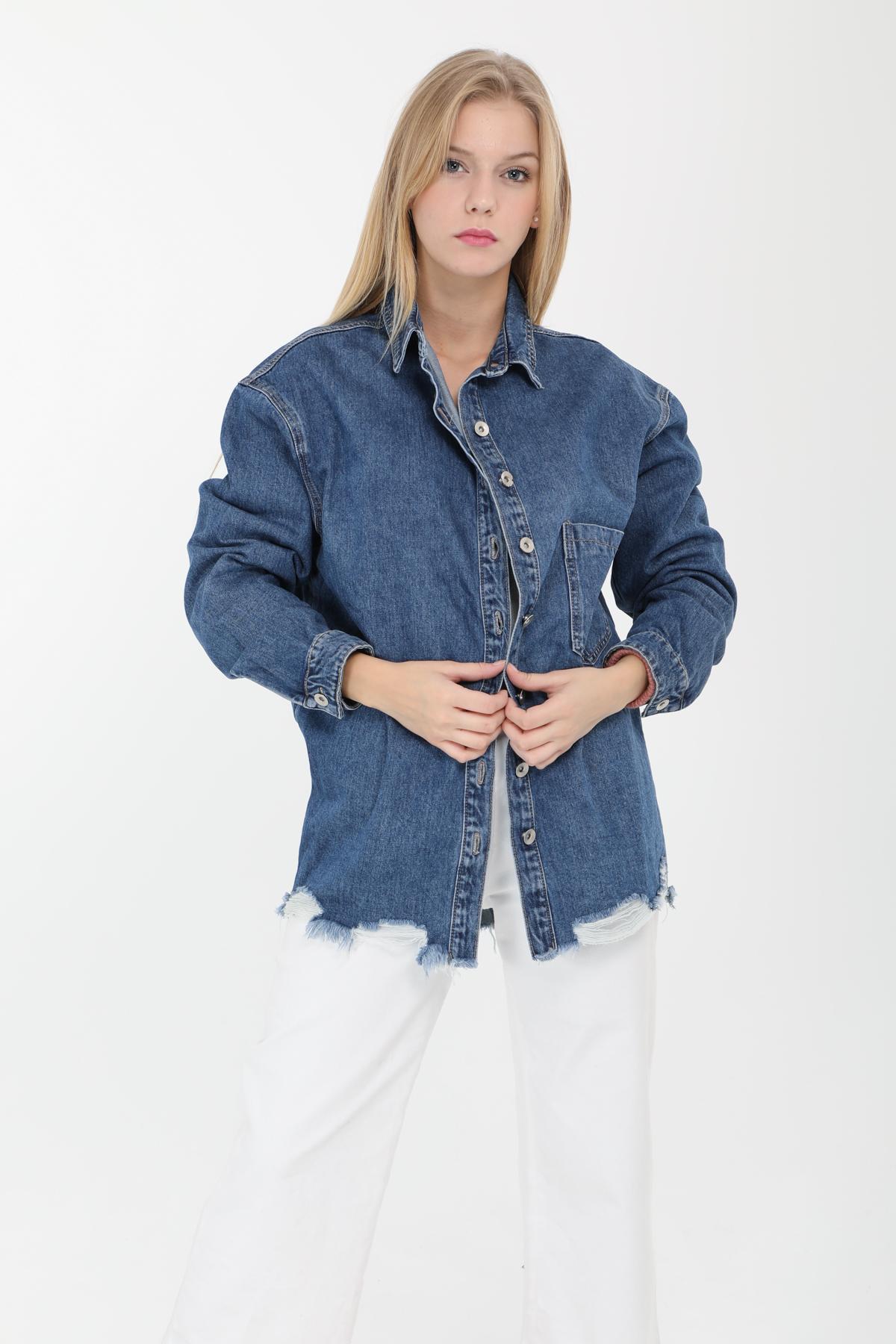 Chemises Femme Bleu Laulia 1J378 #c eFashion Paris