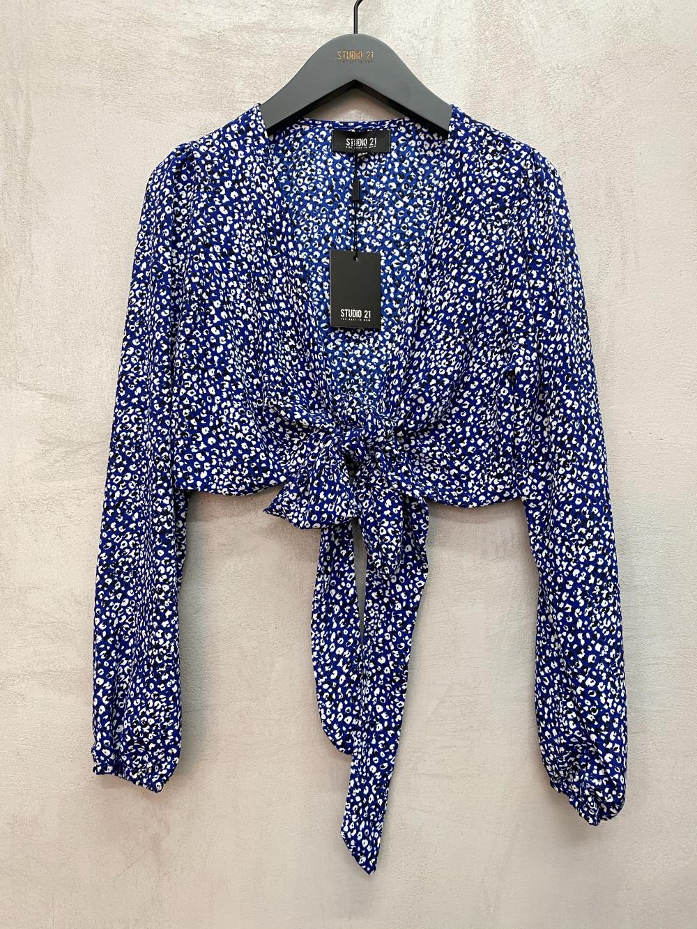 Tops Femme Bleu royal Vintage Dressing CL518 #c eFashion Paris