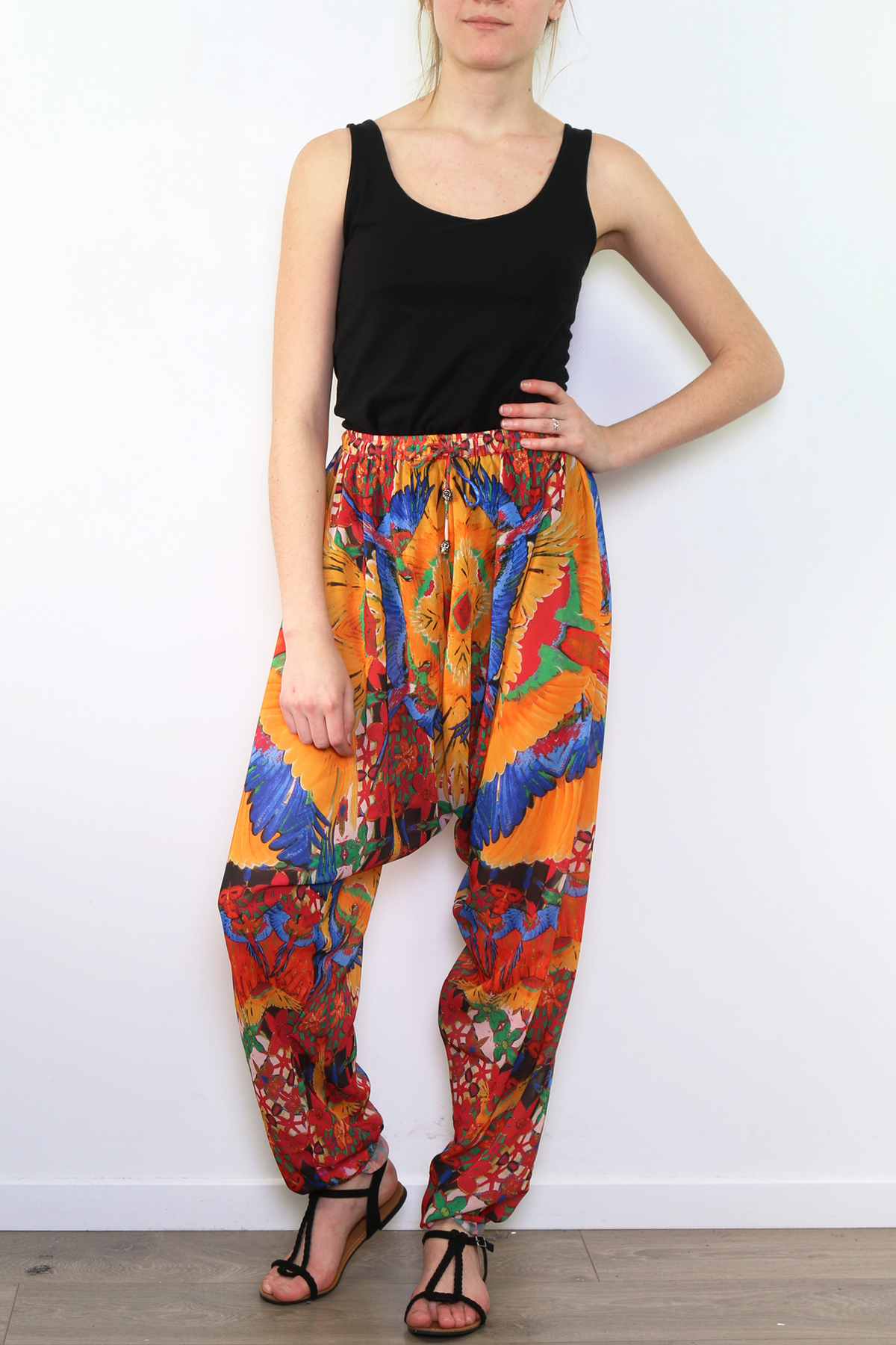 Pantalons Femme Jaune FRIME 786 #c eFashion Paris