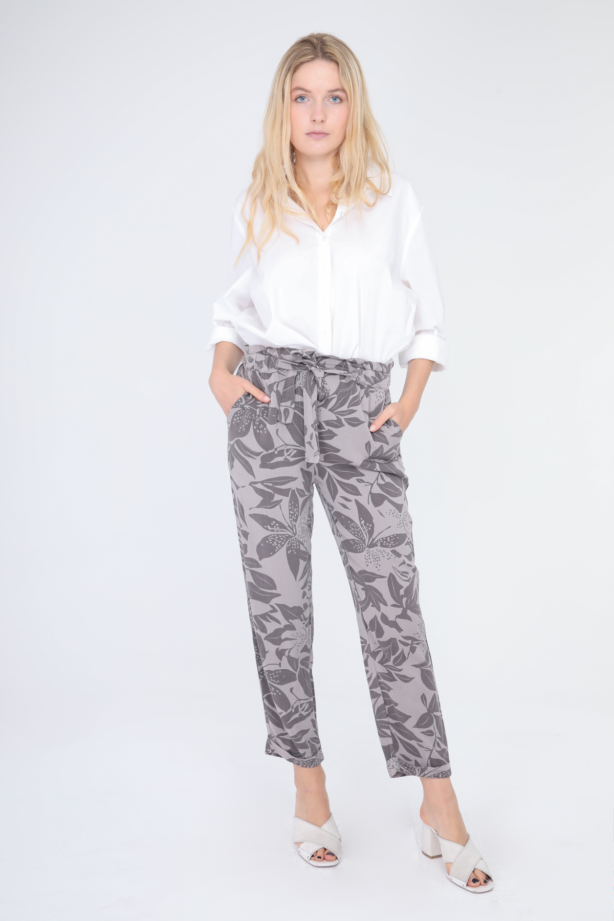Pantalons Femme Gris Emi-Jo NC0908 #c eFashion Paris