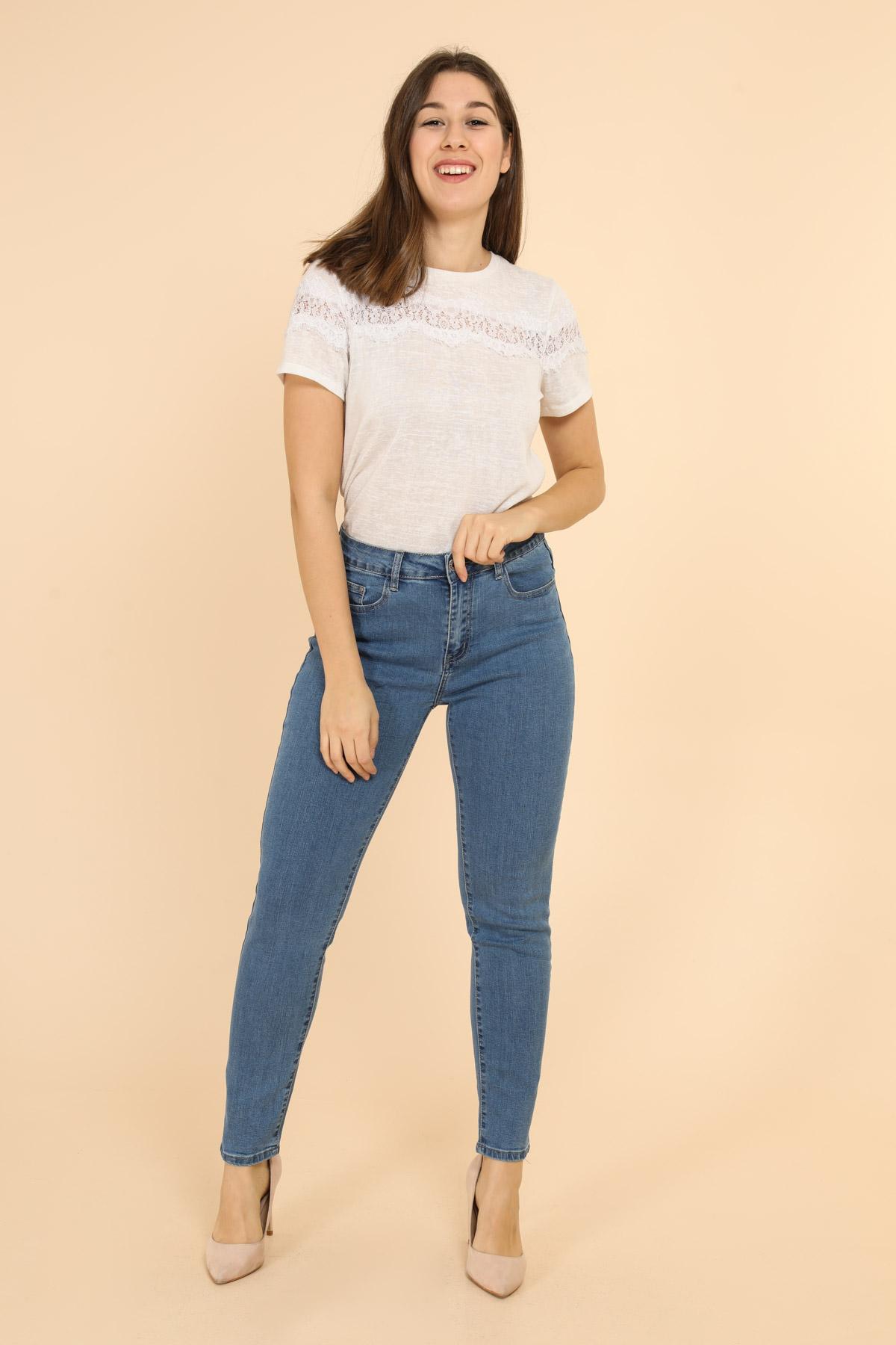 Pantalons Femme Bleu jean MELENA DIFFUSION (anciennement ALINA)  B09 #c Efashion Paris