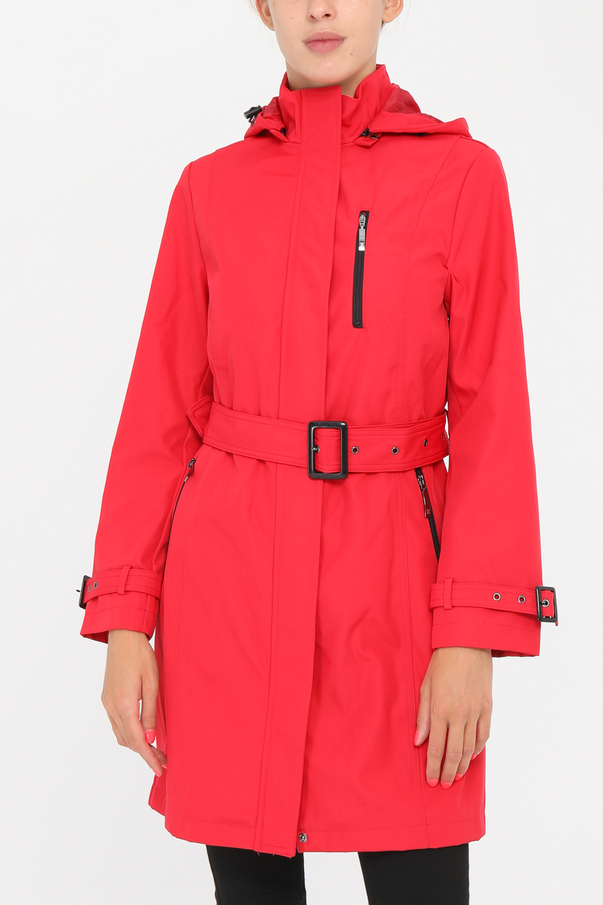 Manteaux Femme Rouge Zelia  1912F-BIS #c eFashion Paris