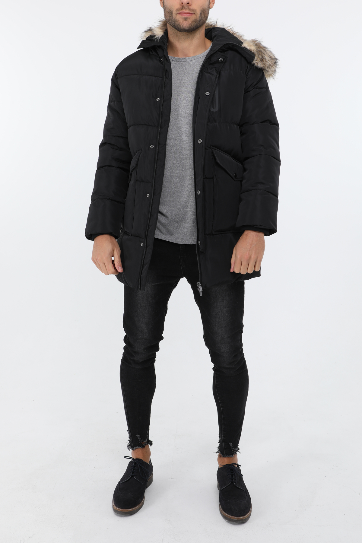 Manteaux Homme Noir Zelia  51922H #c eFashion Paris