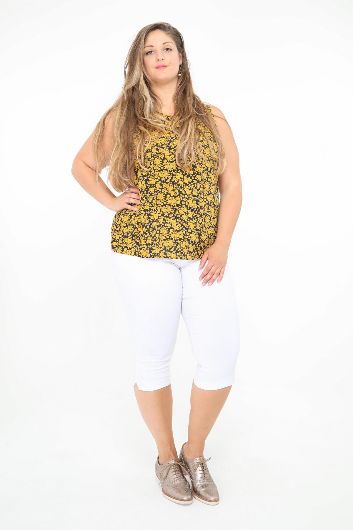 Tops Donna Yellow Christy C283 #c eFashion Paris