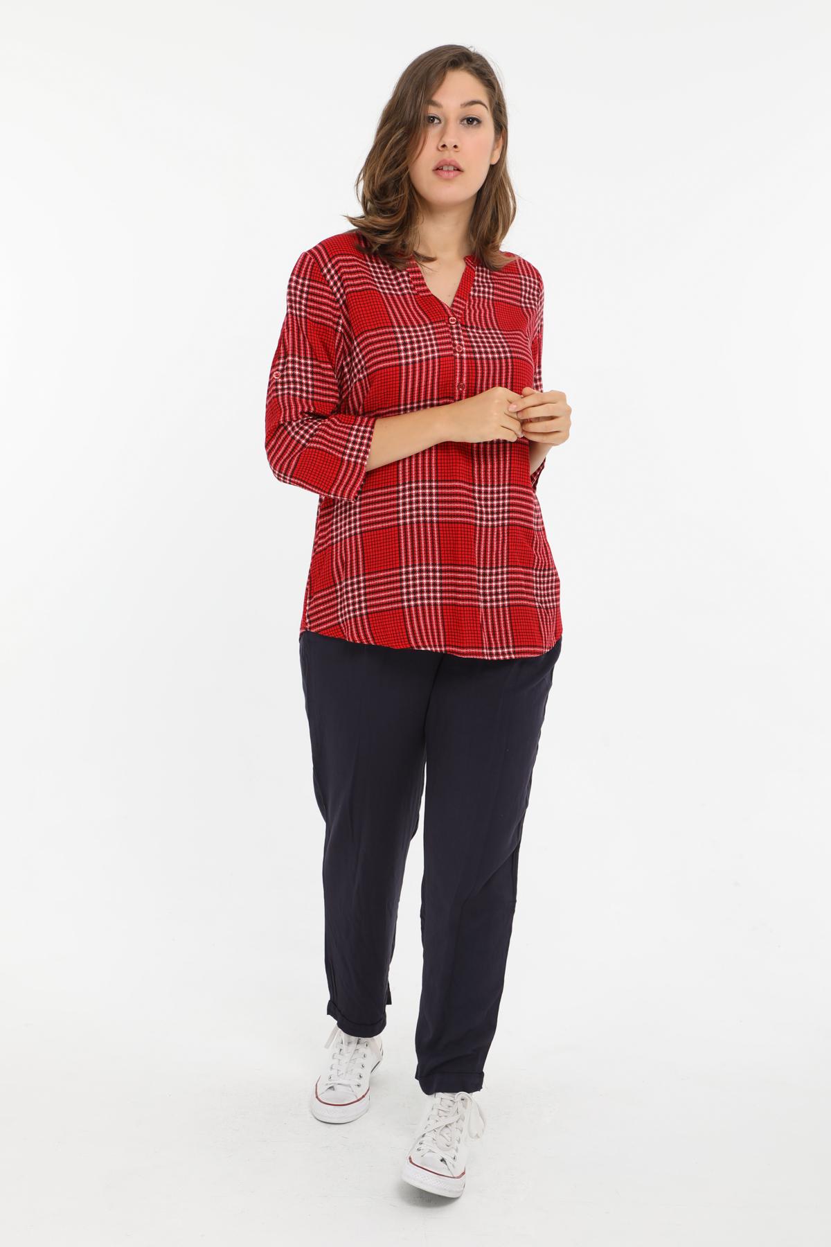Chemises & blouses Femme Rouge Christy C225 #c eFashion Paris