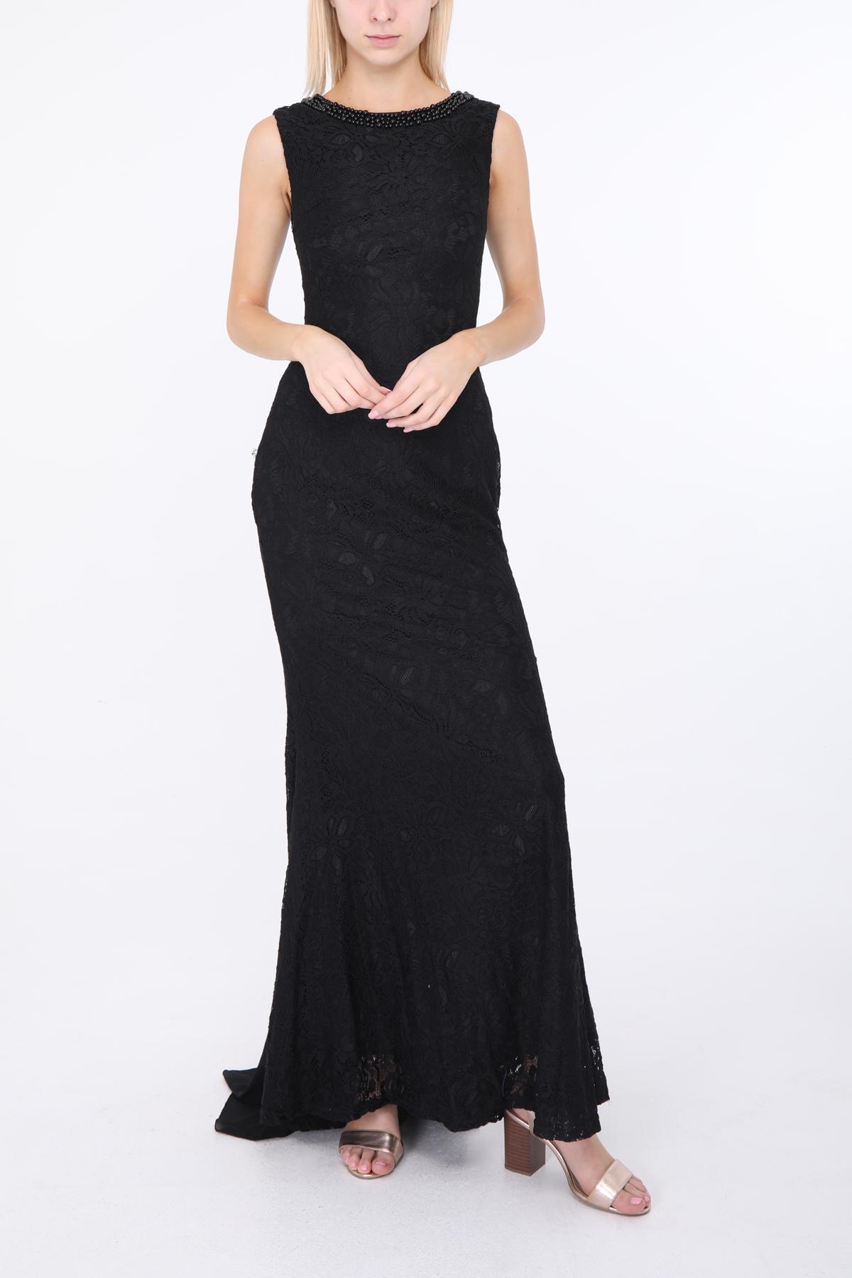 Robes de soirée Femme Noir Jenny Fashion 8712A #c eFashion Paris