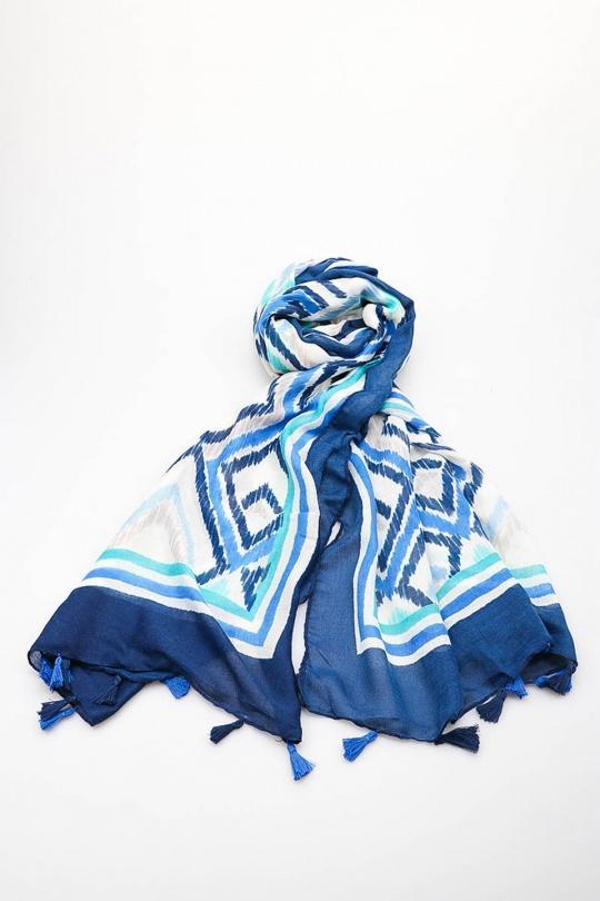 Écharpes Accessoires Bleu AJ MODA 3380 Efashion Paris