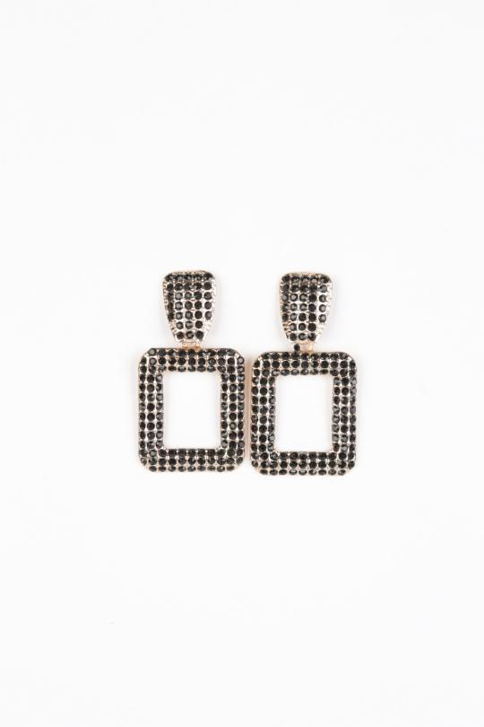 Boucles d'oreilles Accessoires Noir Better Way BW-012-NOIR eFashion Paris
