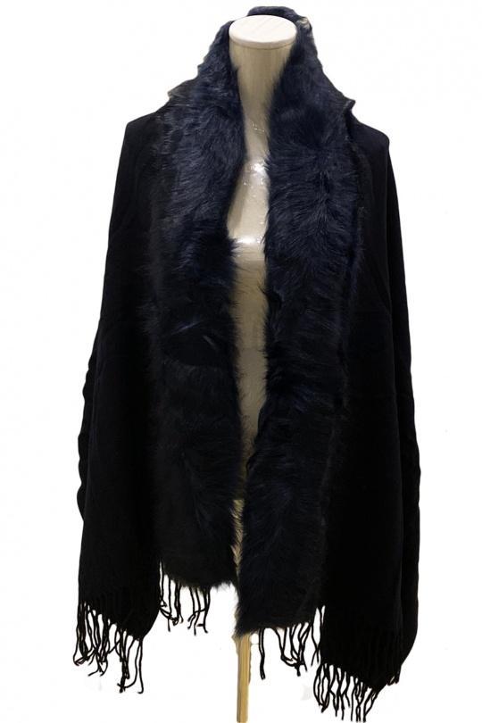 Gilets Femme Bleu E&T Accessoires H16-1021 eFashion Paris