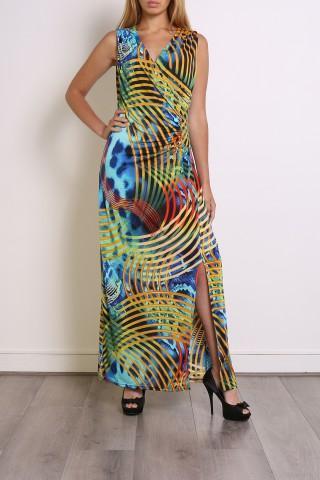 Robes longues Femme Couleurs mélangées Elissa 630-6 eFashion Paris
