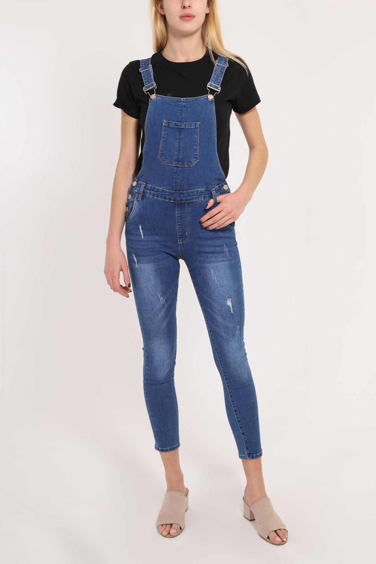 Combinaisons Femme Bleu VETIS Y-4885 #c eFashion Paris