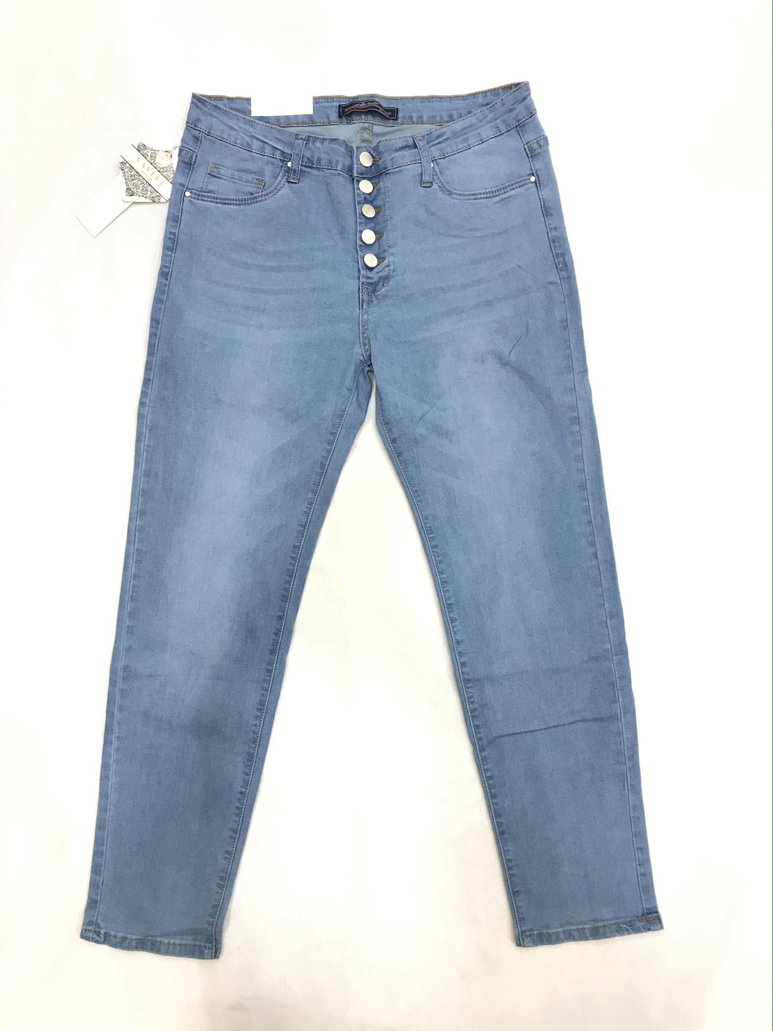 Jeans Donna Sky blue VETIS Y-6920 #c eFashion Paris