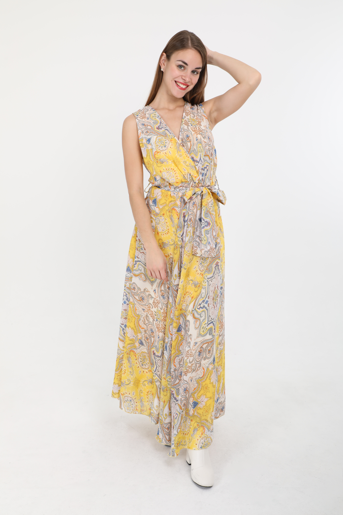 Robes longues Femme Couleurs mélangées LUSA 2432B #c eFashion Paris