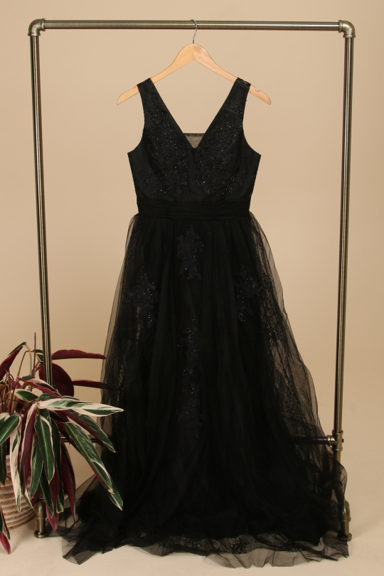 Robes de soirée Femme Noir HD Diffusion 191165A eFashion Paris