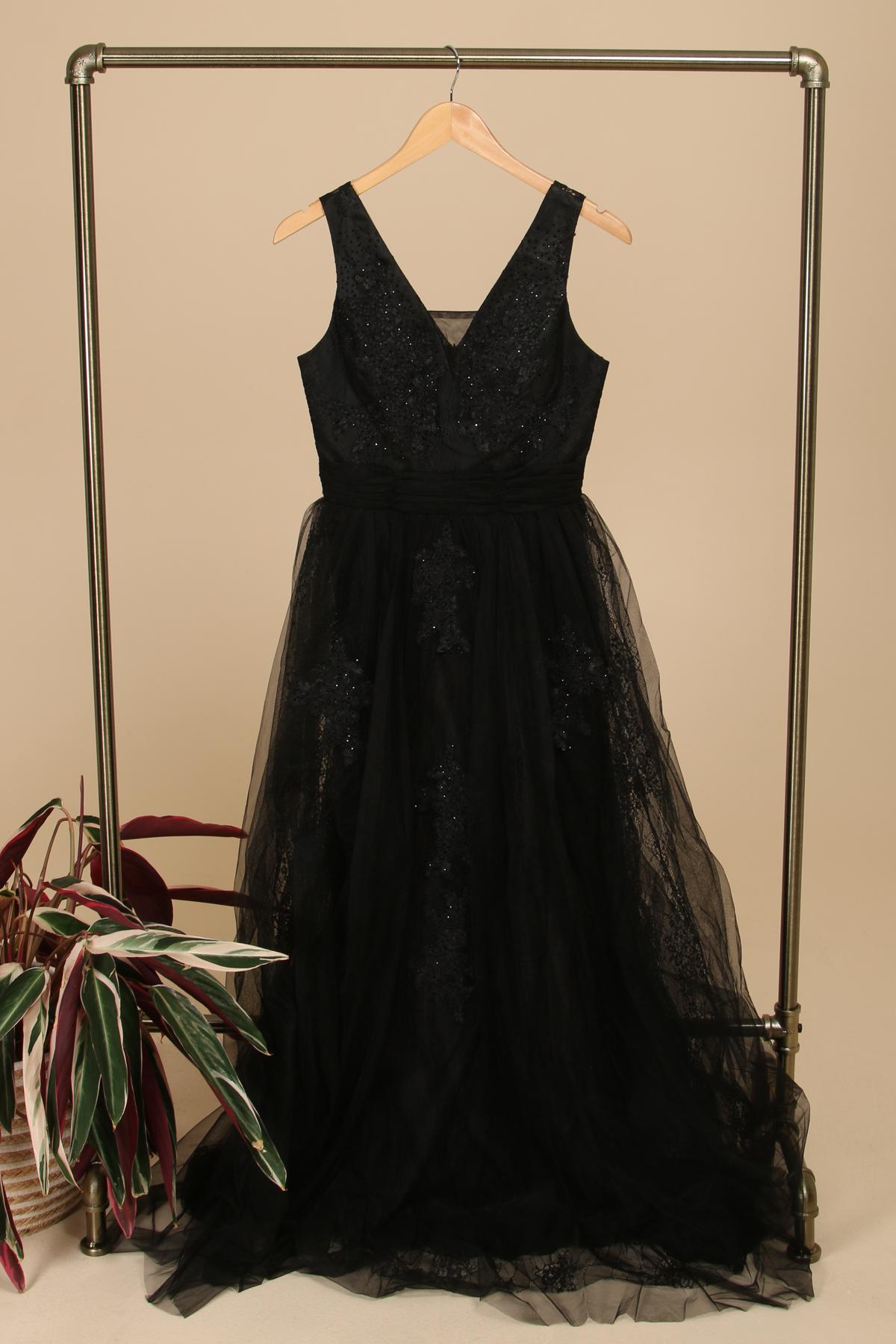 Robes de soirée Femme Noir HD Diffusion 191165A #c eFashion Paris