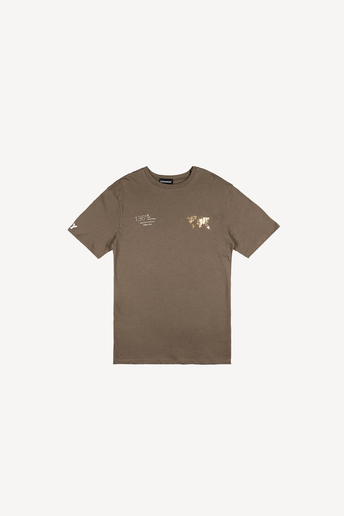 T-shirts Homme Kaki SYSTANDARD SYCO2288 #c eFashion Paris