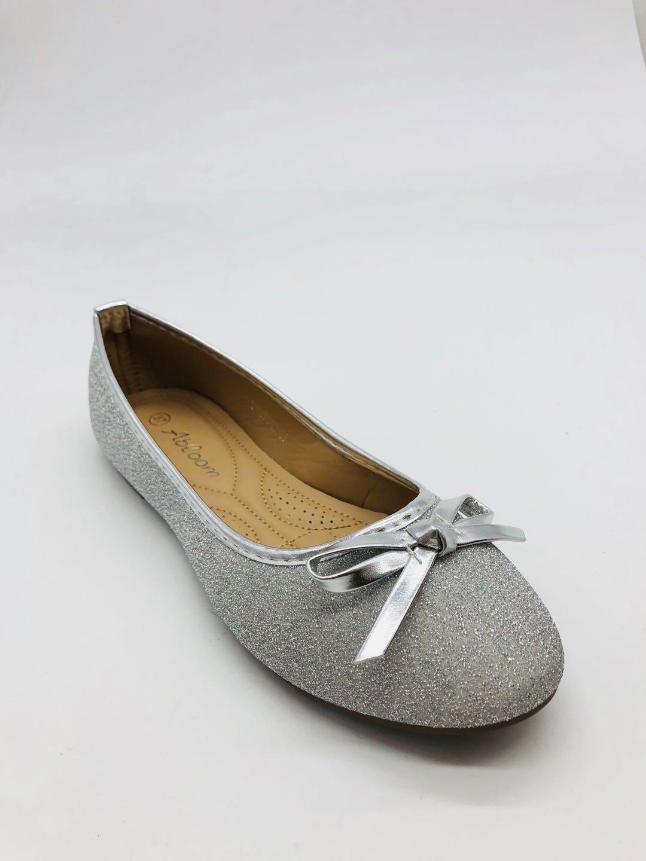 Ballerines Chaussures Argent ABLOOM P107013 #c eFashion Paris