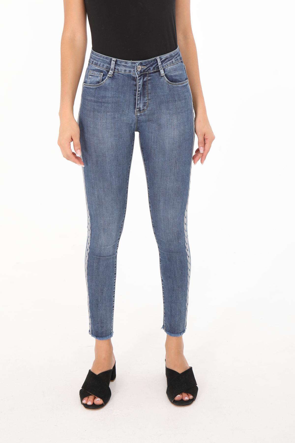 Jeans Femme Bleu jean Chic Shop  6692 #c eFashion Paris