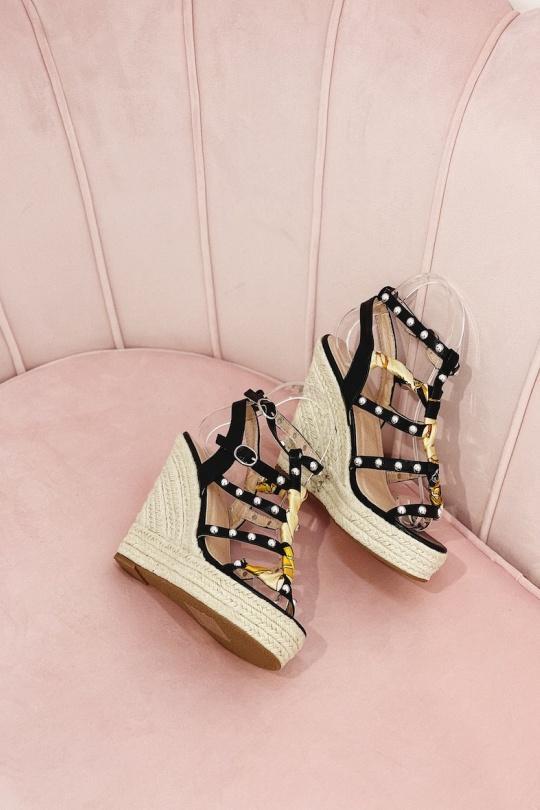 Compensées Chaussures Noir STEPHAN 22-251 Efashion Paris