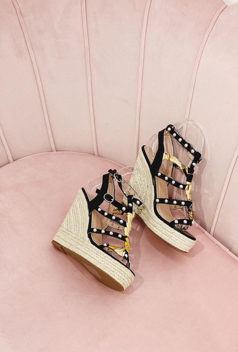 Compensées Chaussures Noir STEPHAN 22-251 #c Efashion Paris