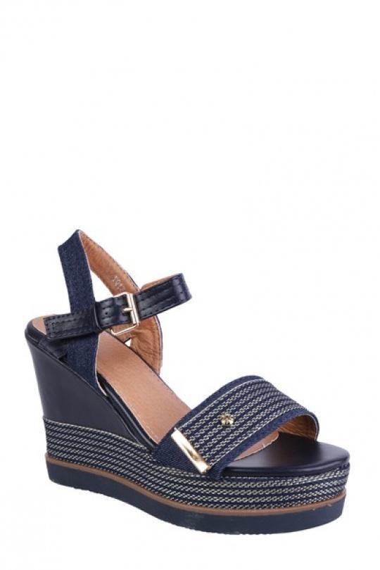 Compensées Chaussures Bleu / Bleu foncé LADY GLORY YQ13 eFashion Paris