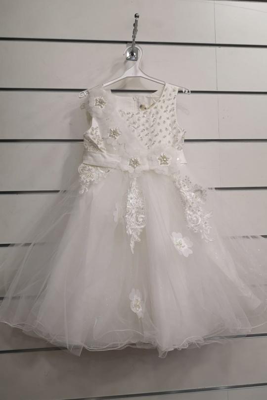 Robes Enfant Blanc pretty baby 98578 eFashion Paris