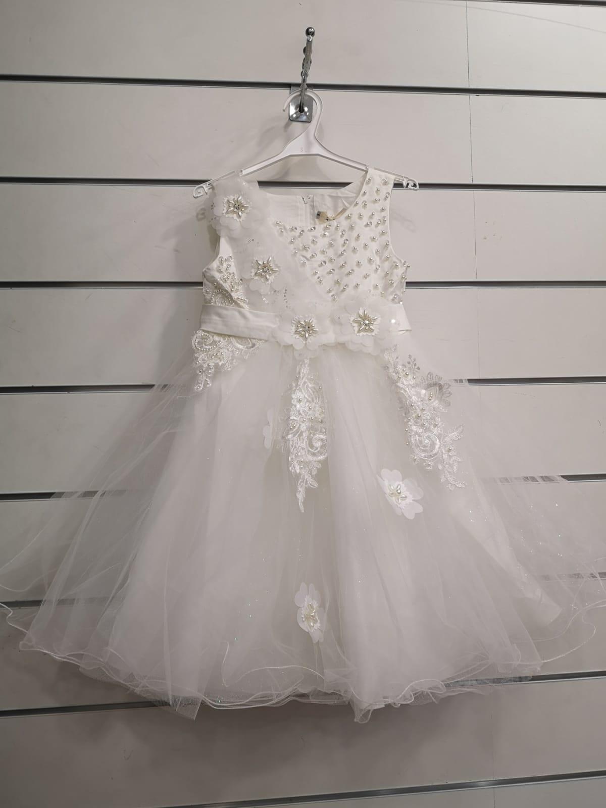 Robes Enfant Blanc pretty baby 98578 #c eFashion Paris