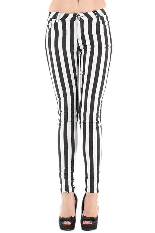 Pantalons Femme Noir 3D TRADE 1602 #c eFashion Paris