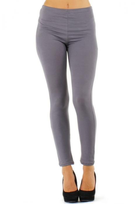 pantalons femme basique cale on long sans dentell gris 3d. Black Bedroom Furniture Sets. Home Design Ideas