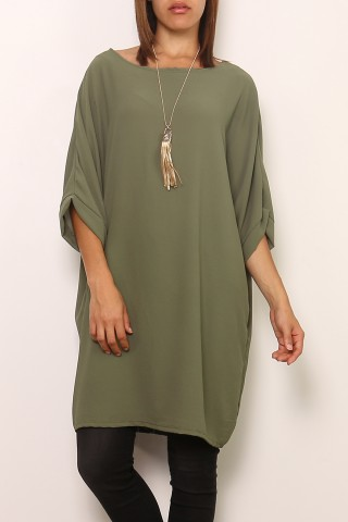 Robes courtes Femme 0643-KAKI Medi Mode