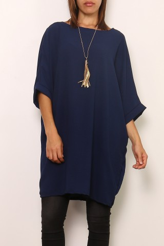 Robes courtes Femme 0643-NAVY Medi Mode
