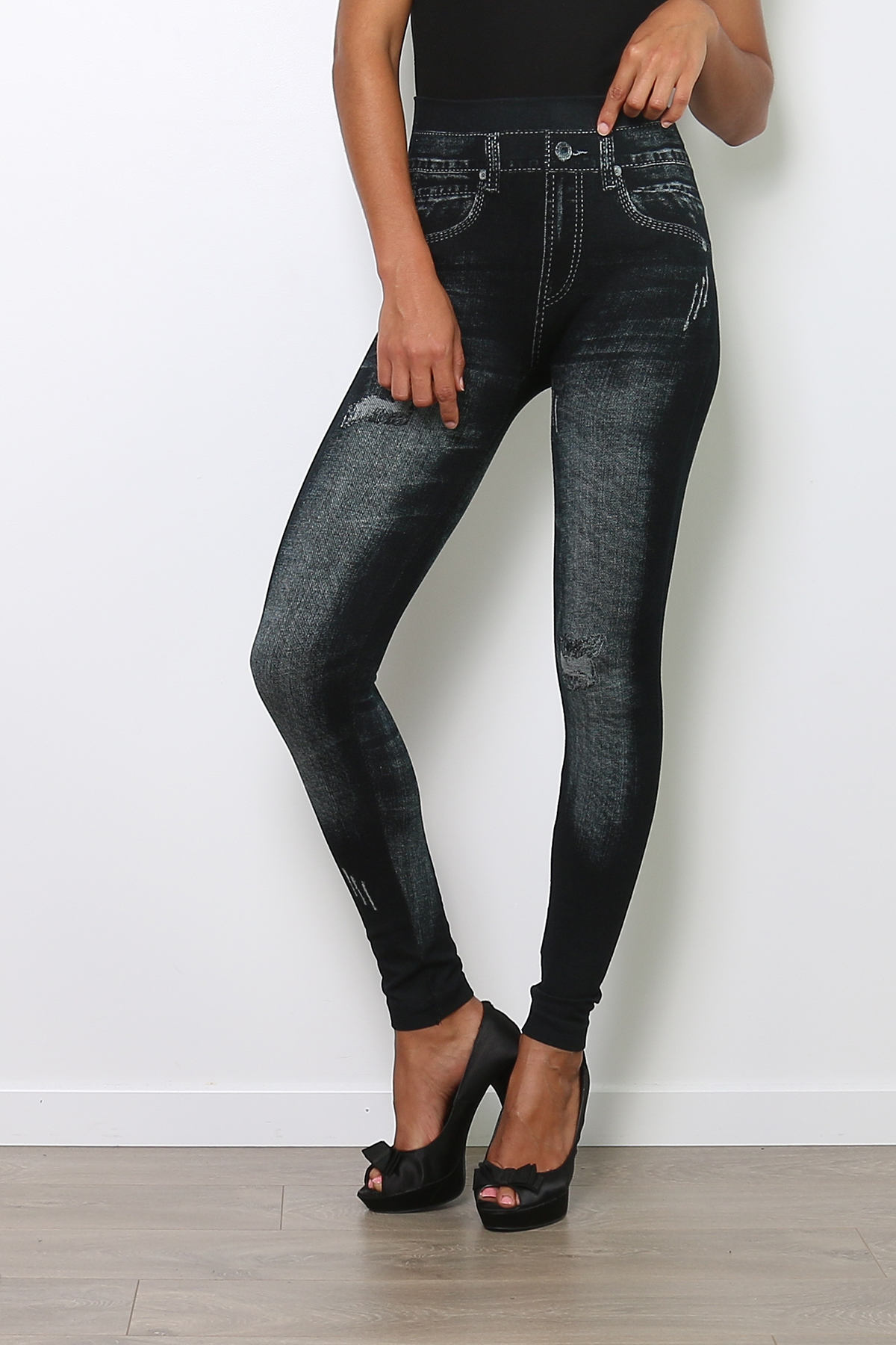 Leggings Femme ENLEGS001-NOIR Medi Mode