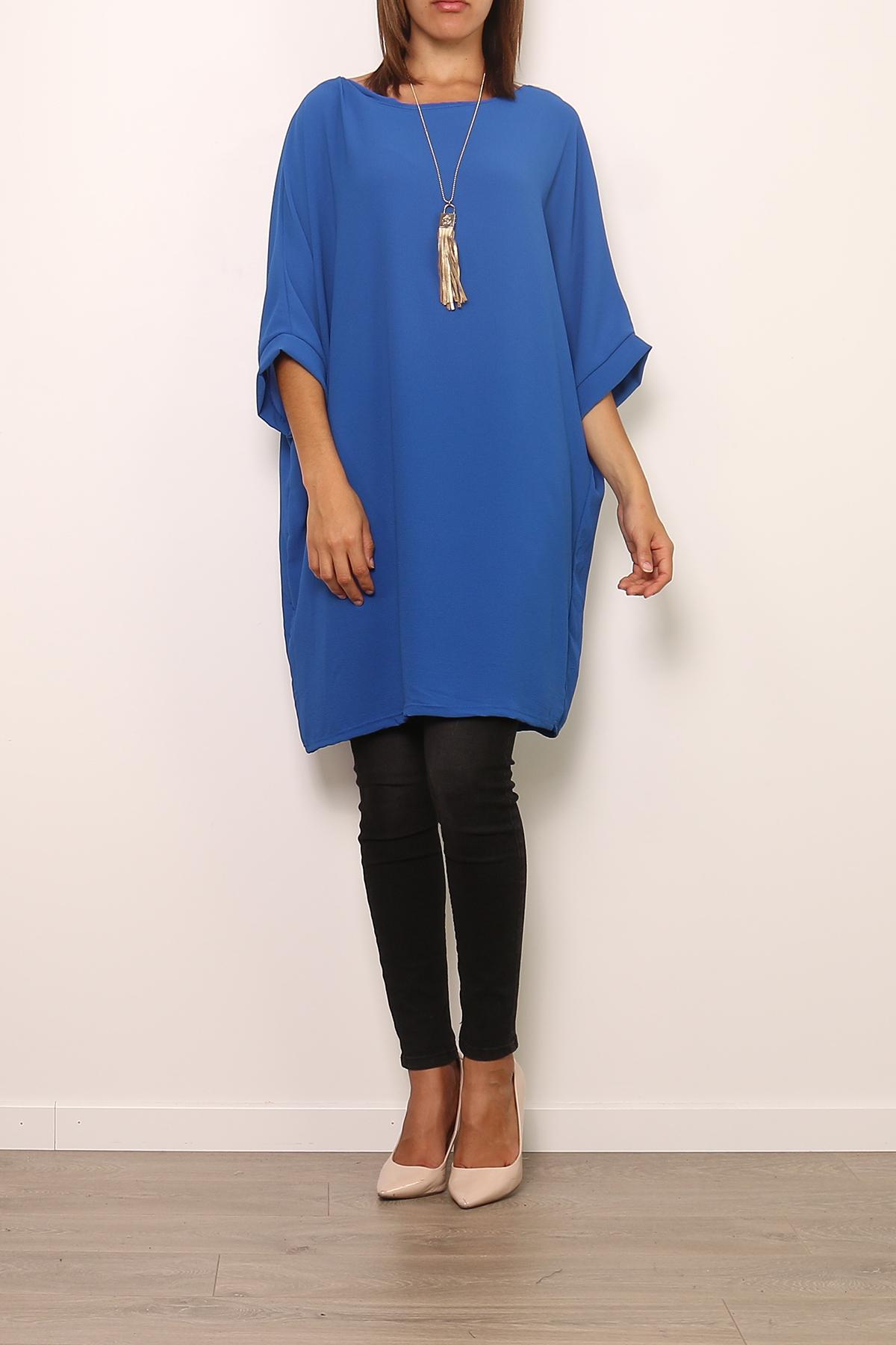 Robes courtes Femme 0643-BLEU Medi Mode