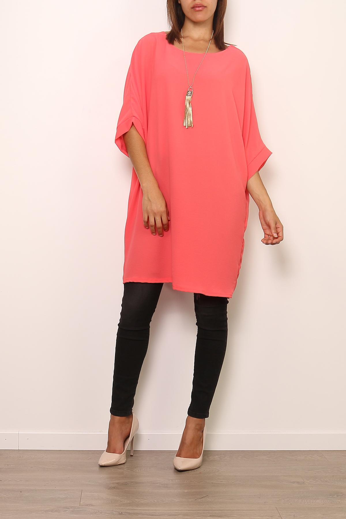 Robes courtes Femme 0643-CORAIL Medi Mode