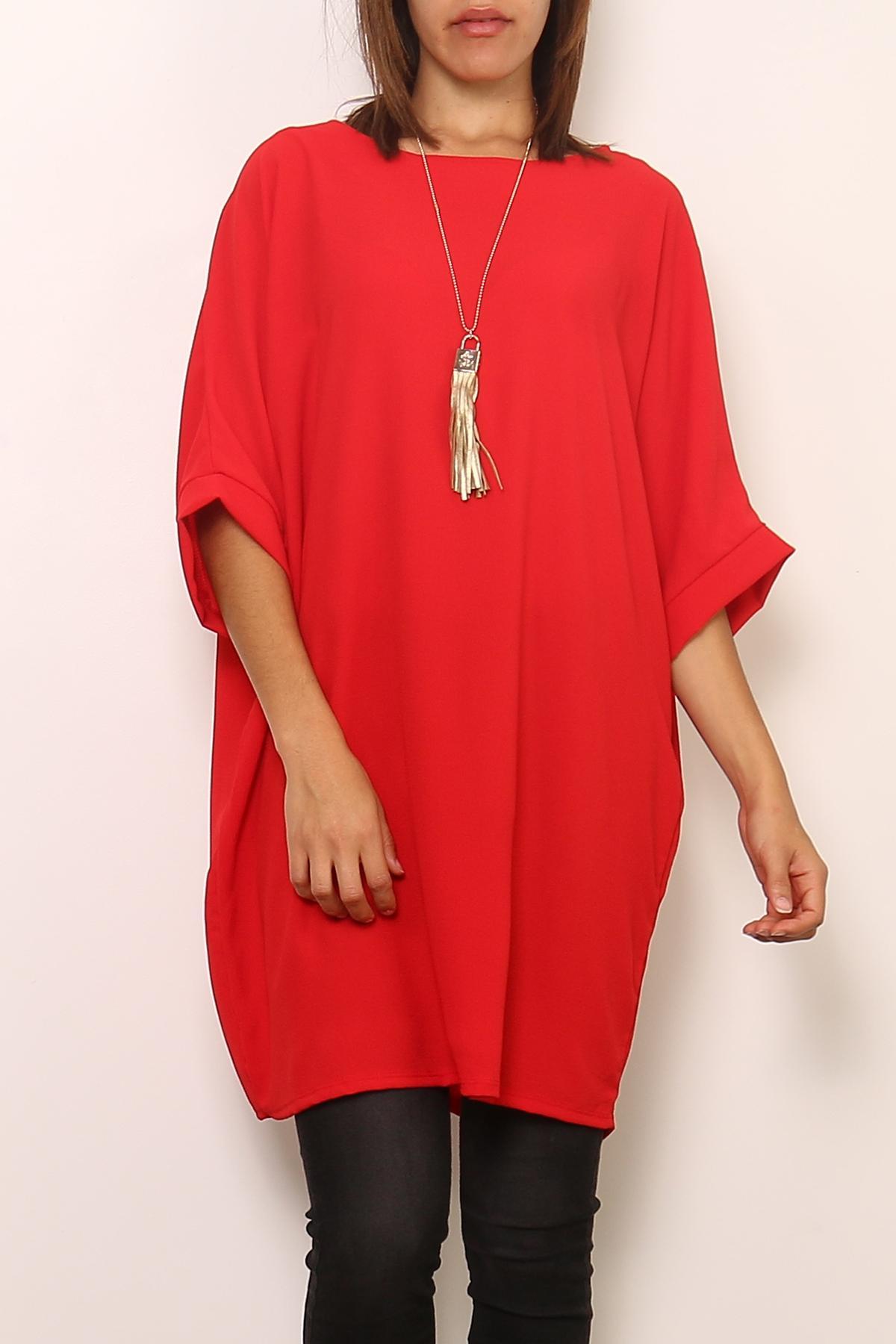 Robes courtes Femme 0643-ROUGE Medi Mode