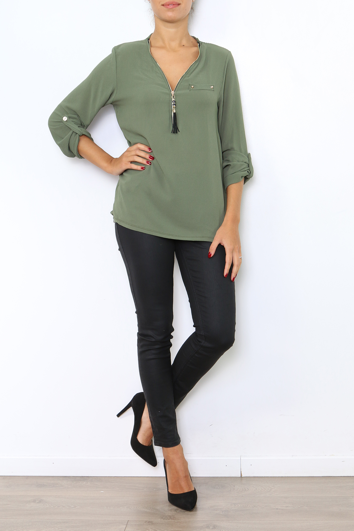 Tops & T-shirts Femme 0754-KAKI Medi Mode
