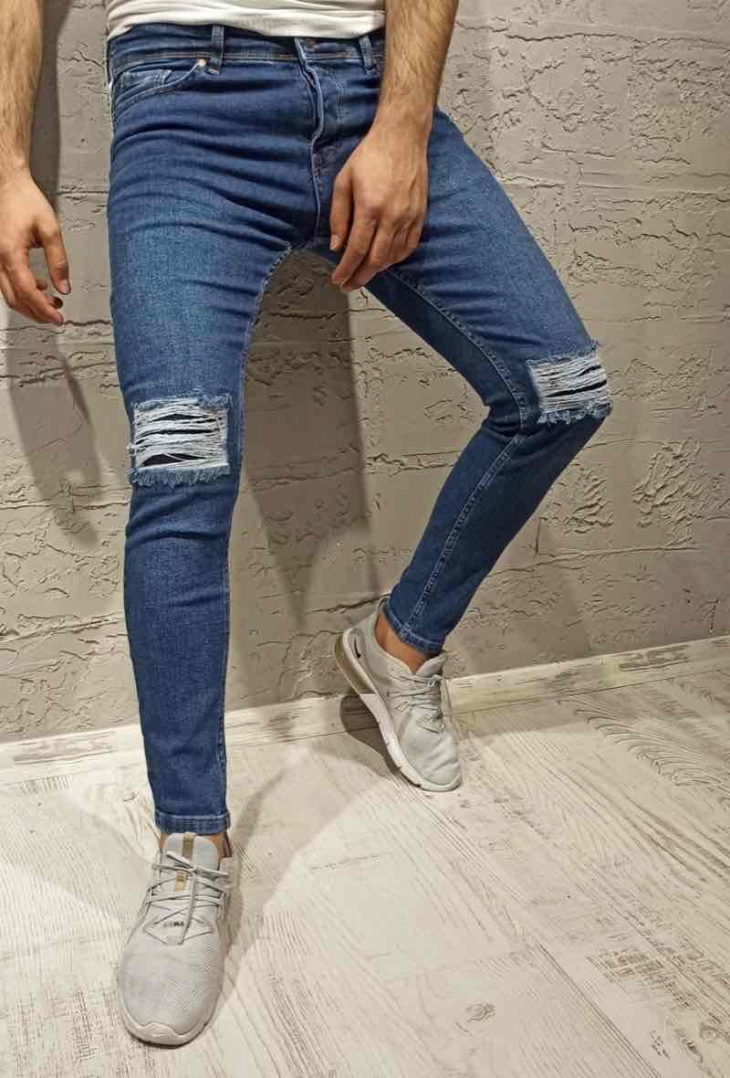 Jeans Homme Bleu jean Invictus Paris 1558-1 #c eFashion Paris
